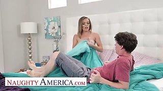 Naughty America Katie Kush fucks her friend&#39s big cock brother