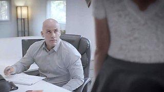 Brett is a secretary harrassed by her boss