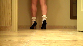 crossdresser frill socks high heels and stockingspart 3