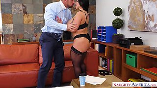 sheridan love is a skilled office slut