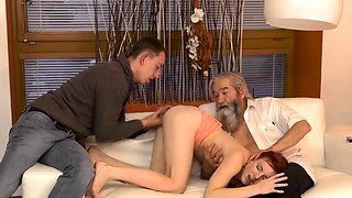 Old fat dad Unexpected experience with an older gentleman