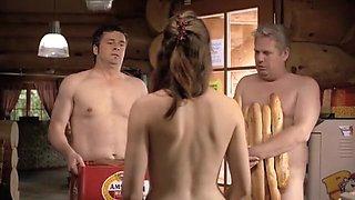 Horny amateur Nudists, Brunette adult clip