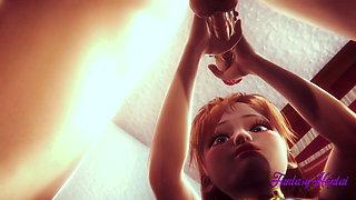 Frozen Hentai - Anna Has Hard Sex in her room