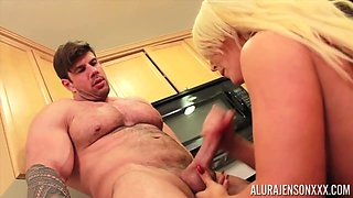 Buty Blonde Milf, Alura Jenson Is Getting Hammered In The Kitchen, Instead Of Making Lunch