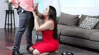 Dating app met busty housewife
