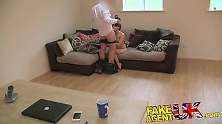 FakeAgentUK: Petite cash strapped MILF gives multiple orgasms