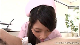 Bitch In Nurse Uniform Sucking Cock
