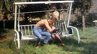 Sexy and hot blonde lady can't resist topless sexy guy