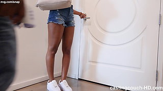 Questioning Ebony Girl With Nice Bubble Butt, Casting Video