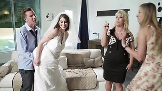 Brunette bride Karina White gets rammed by a freaky dude