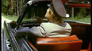 Amazing retro clip with a tall milf getting fucked on a car