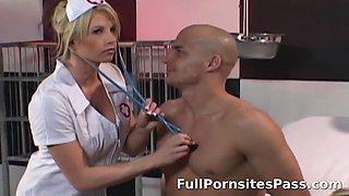 Busty nurse gets butt-fucked