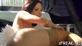 sensational dildo insertion