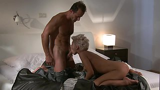 Blonde fuck in doggy style deep in her lovely puss