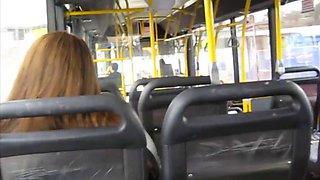 Wank on the bus 408