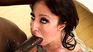 Hardcore face fucking session with busty babe Dollie Darko