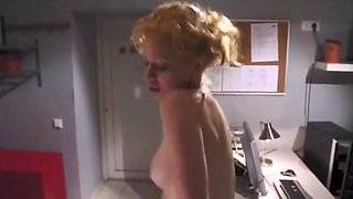 Busty secretary spanked hard by boss
