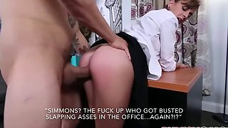 Office protocol: a sissy caption story