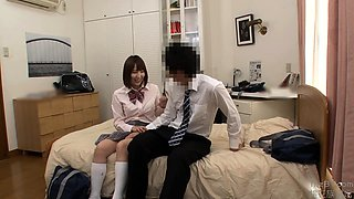 Exciting Japanese schoolgirls satisfying their need for cock
