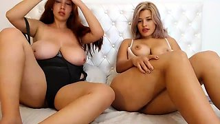 Two Sisters With Big Boobs Play Together