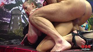 European Nympho Silvia Shows How To Handle Multiple Dicks
