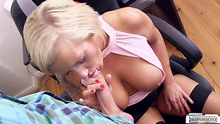 horny boss lady threesome