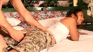 Alluring Thai babe eagerly sucking and fucking a hard cock