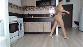 Spy milf in kitchen