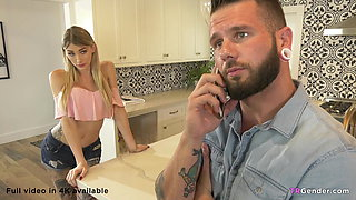 Lonely Dad Fucks The Tranny Nanny Luna