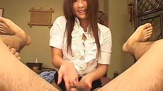 Crazy Japanese slut Minori Hatsune in Incredible POV, Handjob JAV movie