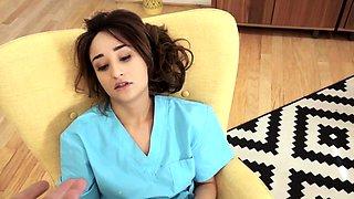 Nurse stepdaughter jizzed