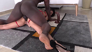 Sexy Latina MILF Mila Double Penetrated by Two Massive Dicks