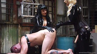 Bella Bathory and Mistress Sadista Brutal Strap-On Pommeling