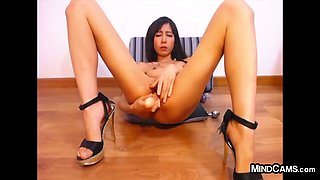Animated Asian Whore With Her Dildo