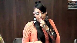 Hot pierced latin young gal Sasha is getting cumshot