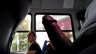 Rubbing my prick in the bus