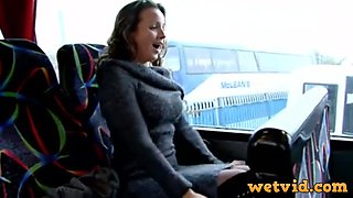 Winning doll in bus craves for a masturbation time with her fav toys in front of webcam and teasing session