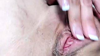 Tattooed camgirl with perfect tits and ass fucks a pink toy
