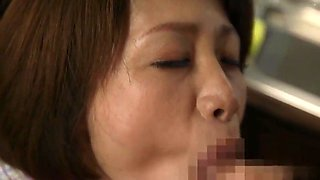 bride's mother gives blowjob